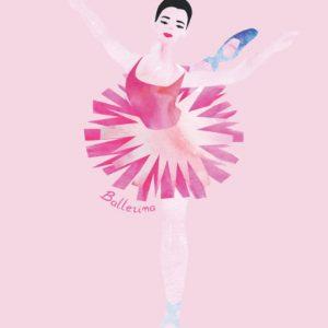Pretty pink ballerina lined notebook.