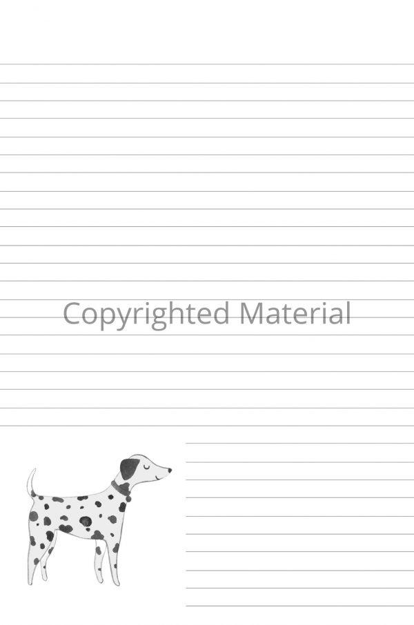 Dalmatian notebook interior