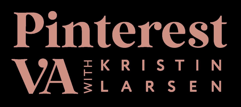 Pinterest VA with Kristin Larsen logo