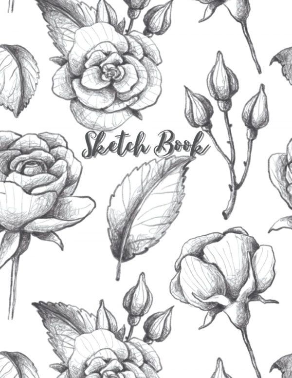 Rose design sketch book